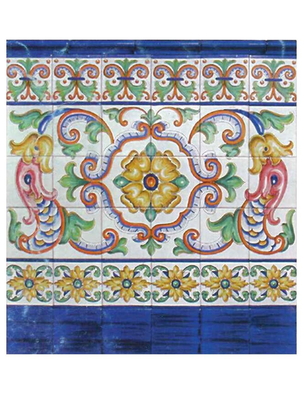 Z calo azalea alto artesan a sevilla - Zocalos de azulejos ...